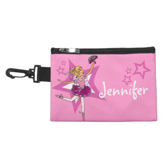 Ballerina pink girl blonde mini bagette accessory bags