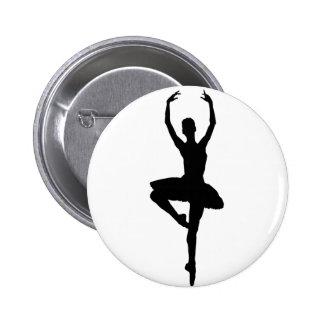 BALLERINA PIROUETTE (ballet dance silhouette) ~~ 6 Cm Round Badge