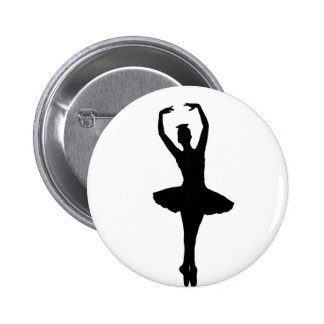 BALLERINA PIROUETTE EN POINTE (Ballet Dancer) ~ 6 Cm Round Badge