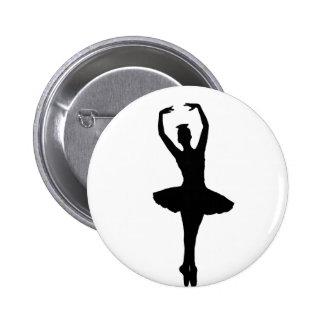 BALLERINA PIROUETTE EN POINTE (Ballet Dancer) ~ 6 Cm Round Badge