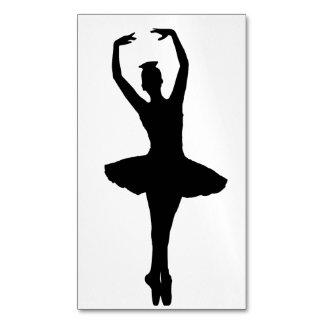 BALLERINA PIROUETTE EN POINTE (Ballet Dancer Silho Magnetic Business Cards