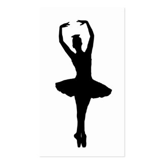 BALLERINA PIROUETTE EN POINTE (Ballet Dancer Silho Pack Of Standard Business Cards