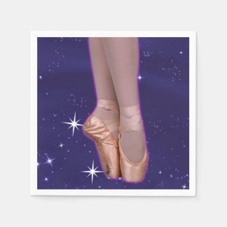 Ballerina point shoes among the stars paper napkin