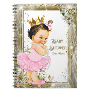 Ballerina Princess Baby Shower Guest Book
