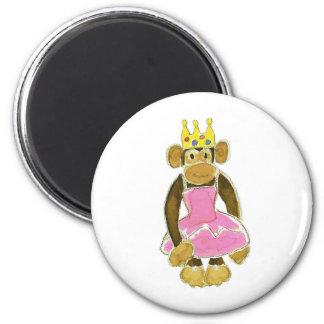Ballerina Princess Monkey 6 Cm Round Magnet