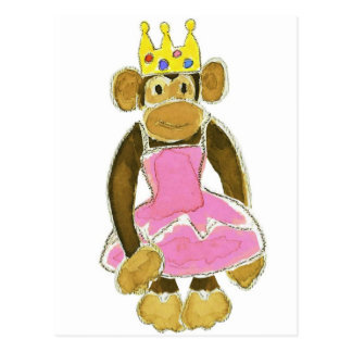 Ballerina Princess Monkey Postcard