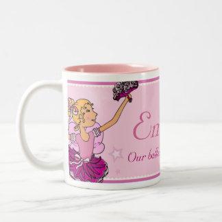 Ballerina princess pink & blonde hair girl mug