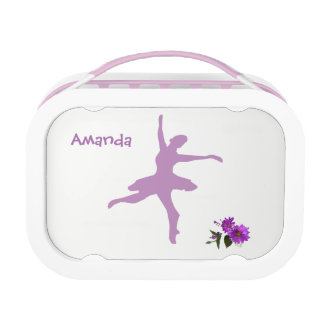 Ballerina Purpe daisy Design 1 Lunch box
