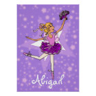 """Ballerina purple blonde girl star """"name"""" poster"""