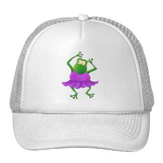 Ballerina Purple Tutu Dancing Frog Trucker Hat