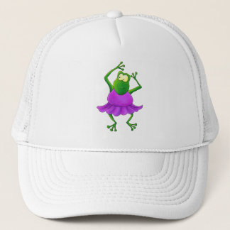 Ballerina Purple Tutu Dancing Frog Trucker Hat