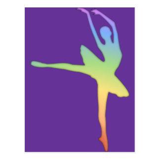 Ballerina - Rainbow 1 Postcard