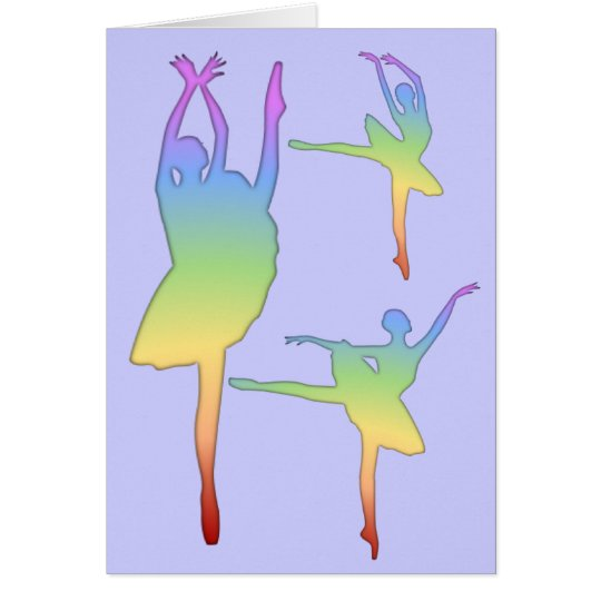 Ballerina - Rainbow 3 Greeting Card