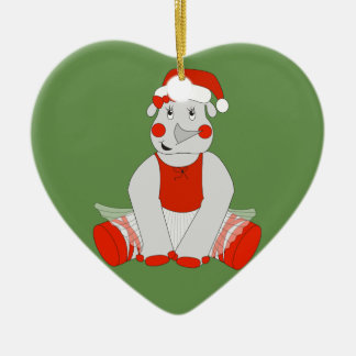 Ballerina Rhino - Christmas Special Christmas Ornament