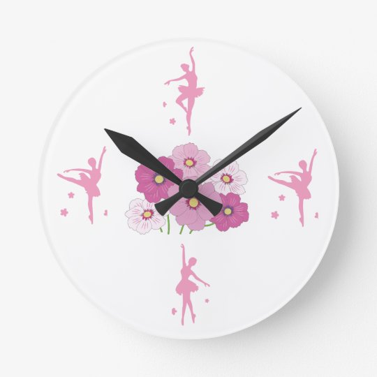 Ballerina Round (Medium) Wall Clock