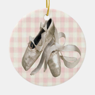 Ballerina Shoes Christmas Ornament