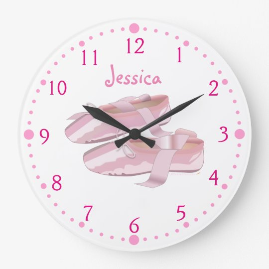 Ballerina Shoes Clock Personalised Ballet Gift