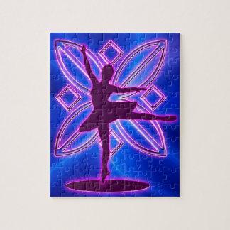Ballerina silhouette dancing jigsaw puzzle