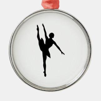 Ballerina Silver-Colored Round Decoration