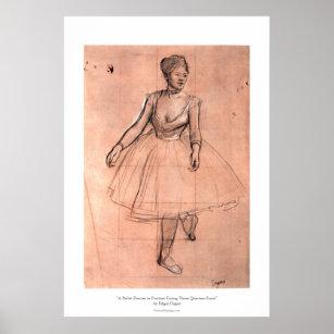 Ballerina sketch by Degas pretty ballet dancer art Poster