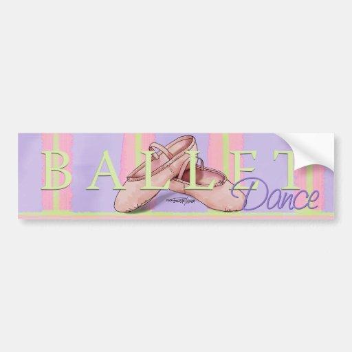 Ballerina Slippes Bumper Sticker