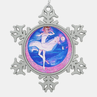 BALLERINA SNOW FLAKE ORNAMENT