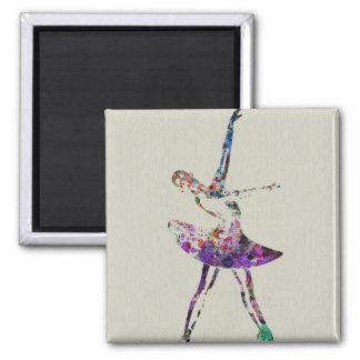 Ballerina Square Magnet