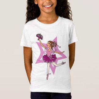 Ballerina star in pink with dark hair top