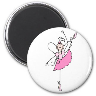 Ballerina Stick Figure Five Magnet