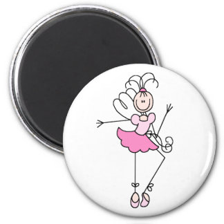 Ballerina Stick Figure Four Magnet