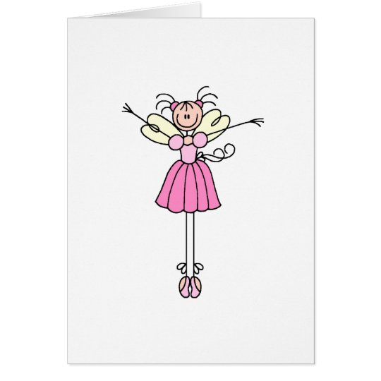 Ballerina Stick Figure Two Card