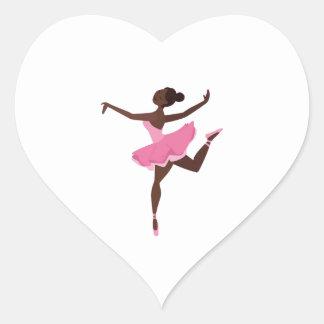 Ballerina Heart Sticker