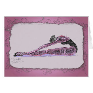 Ballerina Stretching In Pink Card