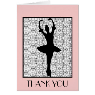Ballerina - Teacher Appreciation Thank You Note Card