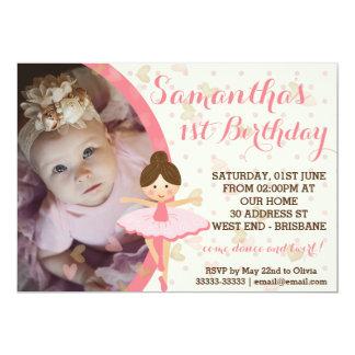 Ballerina Themed Party Card