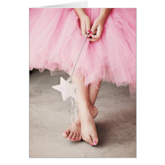 Ballerina Toes Birthday Card