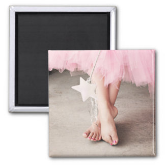 Ballerina Toes Square Magnet