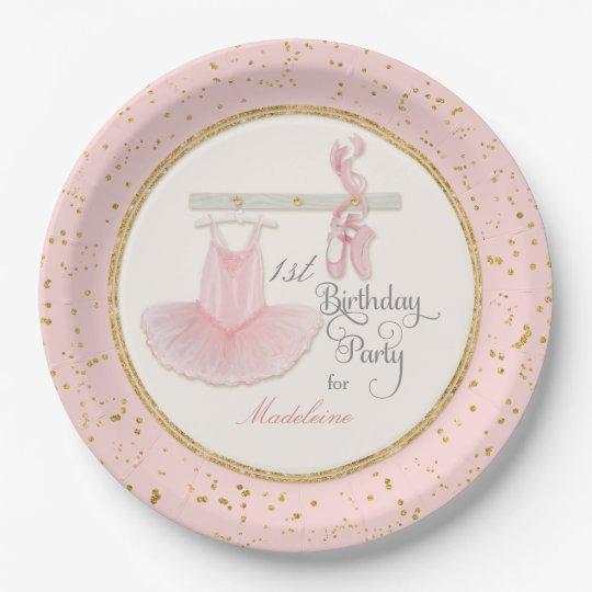 Ballerina Tutu Baby Girl First 1st Birthday Party