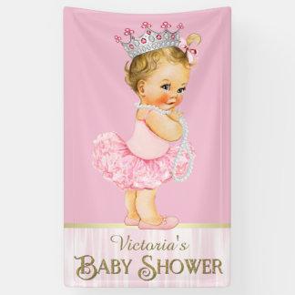 Ballerina Tutu Pearl Baby Shower Banner
