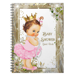 Ballerina Tutu Princess Baby Shower Guest Book