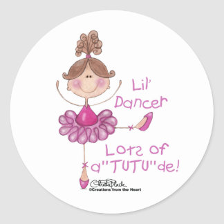 Ballerina with ATUTUde Round Sticker