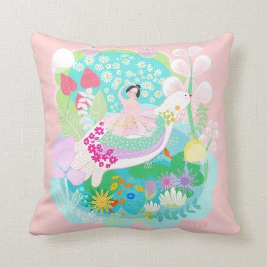 Ballerina with birds Custom All-Over-Print pillow. Cushion