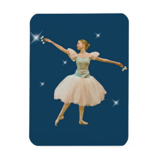 Ballerina with Castanets Rectangular Photo Magnet