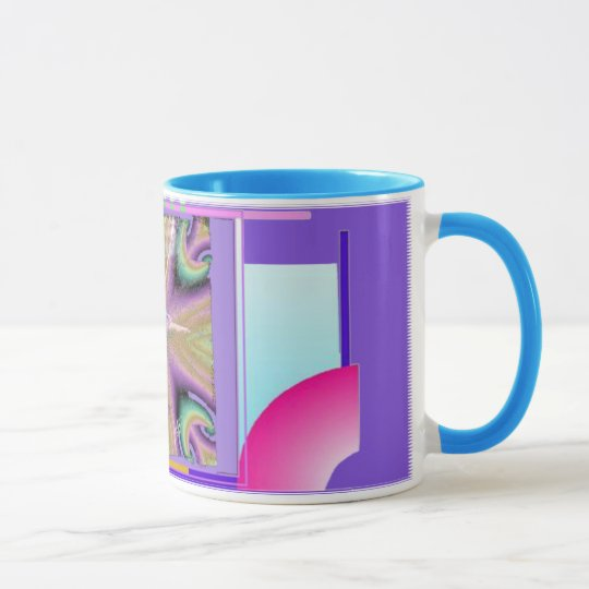 Ballerina with Colourful Geometric Background Mug