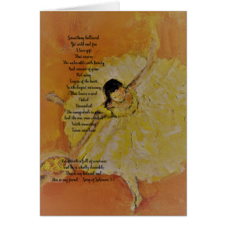 Ballerina with inspirational poetry card