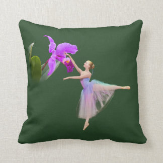Ballerina with Orchid Cushion