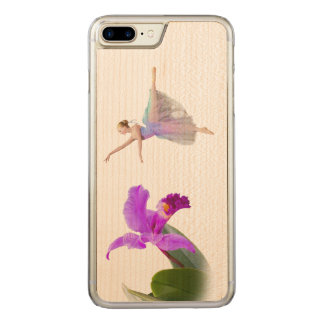 Ballerina with Orchid Flower Carved iPhone 8 Plus/7 Plus Case