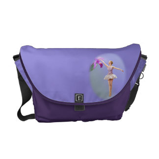 Ballerina with Orchid Messenger Bag