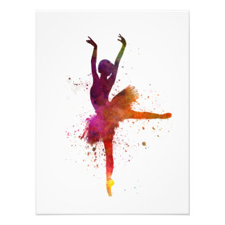Ballerina Woman ballet to dancer dancing Photographic Print