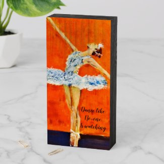 Ballerina Wooden Box Sign